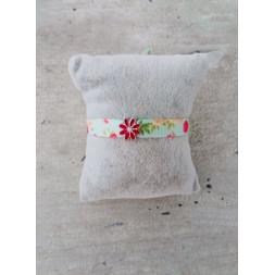 bracelet ruban fleur
