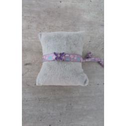 bracelet tissu papillon
