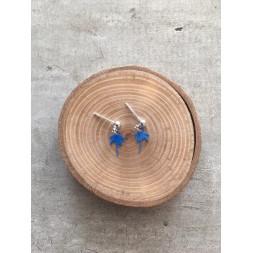 boucle palmier bleu