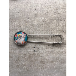 broche chat gris